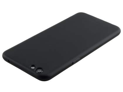 Frosted TPU Gel Case for Oppo R9s - Classic Black Soft Cover