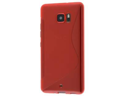 Wave Case for HTC U Ultra - Frosted Red/Red Soft Cover