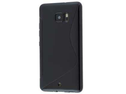 Wave Case for HTC U Ultra - Frosted Black/Black Soft Cover