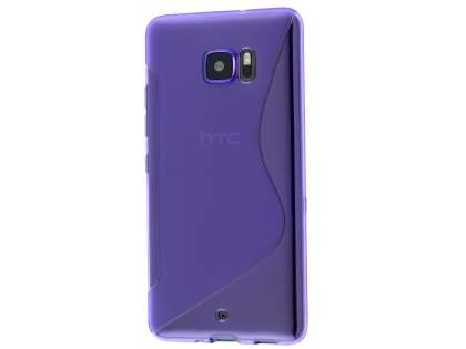 Wave Case for HTC U Ultra - Frosted Purple/Purple Soft Cover