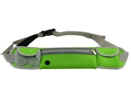Universal Zip Pouch Running Belt - Green Sports Arm Band