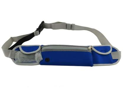Universal Zip Pouch Running Belt - Blue Sports Arm Band