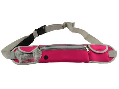 Universal Zip Pouch Running Belt - Pink Sports Arm Band