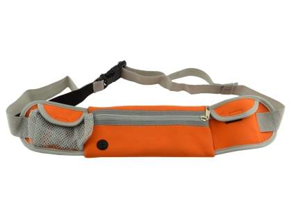 Universal Zip Pouch Running Belt - Orange Sports Arm Band