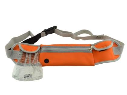 Universal Zip Pouch Running Belt - Orange