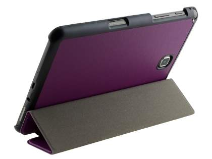 Slim Synthetic Leather Flip Case with Stand for Samsung Galaxy Tab A 8.0 - Purple/Black Leather Flip Case