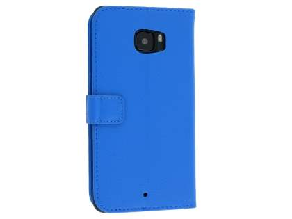 HTC U Ultra Slim Synthetic Leather Wallet Case with Stand - Blue Leather Wallet Case