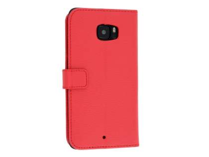 HTC U Ultra Slim Synthetic Leather Wallet Case with Stand - Red Leather Wallet Case