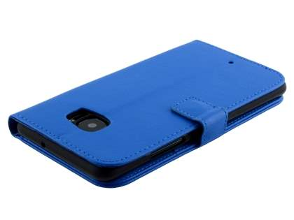 Slim Synthetic Leather Wallet Case with Stand for HTC U Ultra - Blue