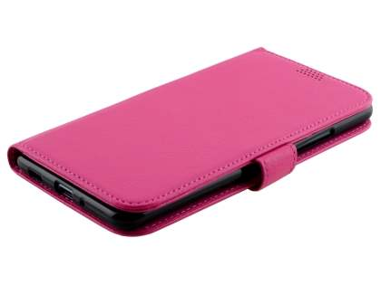 Slim Synthetic Leather Wallet Case with Stand for HTC U Ultra - Pink