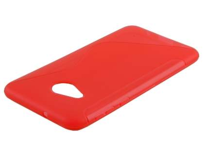Wave Case for HTC U Play - Frosted Red/Red Soft Cover