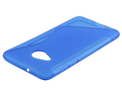 Wave Case for HTC U Play - Frosted Blue/Blue Soft Cover