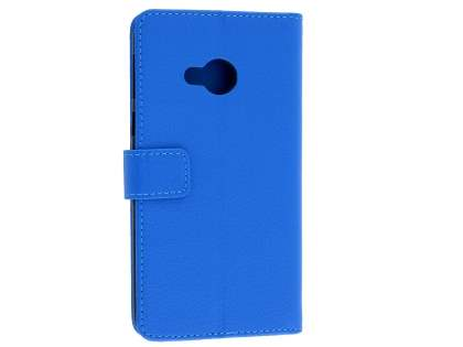 Slim Synthetic Leather Wallet Case with Stand for HTC U Play - Blue Leather Wallet Case