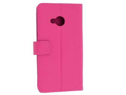 HTC U Play Slim Synthetic Leather Wallet Case with Stand - Pink Leather Wallet Case