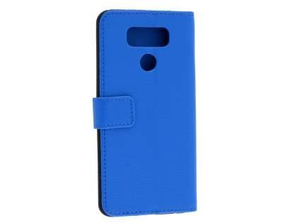 Slim Synthetic Leather Wallet Case with Stand for LG G6 - Blue Leather Wallet Case