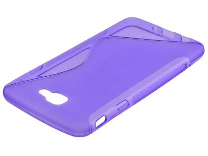 Wave Case for Samsung Galaxy J7 Prime - Frosted Purple/Purple Soft Cover
