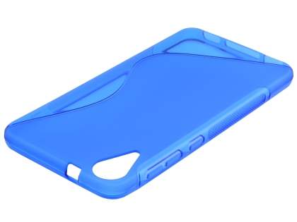 Wave Case for HTC Desire 825 - Frosted Blue/Blue Soft Cover