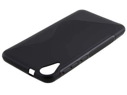 Wave Case for HTC Desire 825 - Frosted Black/Black Soft Cover