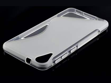 Wave Case for HTC Desire 825 - Frosted Clear/Clear Soft Cover