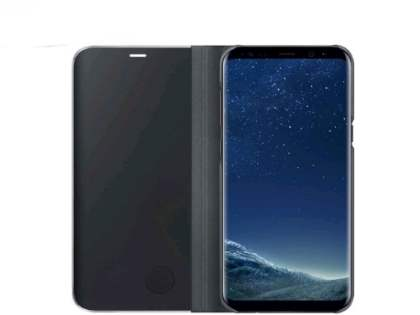 Genuine Samsung Galaxy S8 Clear View Standing Cover - Black