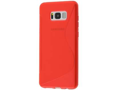 Wave Case for Samsung Galaxy S8 - Frosted Red/Red Soft Cover