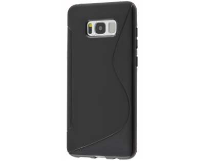 Wave Case for Samsung Galaxy S8 - Frosted Black/Black Soft Cover
