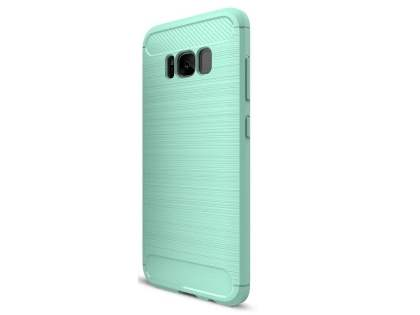 Flexible Carbon Fibre Style Case for Samsung Galaxy S8 - Mint Soft Cover