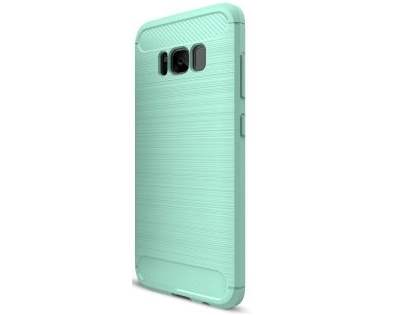 Flexible Carbon Fibre Style Case for Samsung Galaxy S8+ - Mint Soft Cover