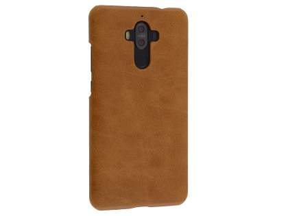 Top Grain Leather Back Cover for Huawei Mate 9 - Brown Hard Case