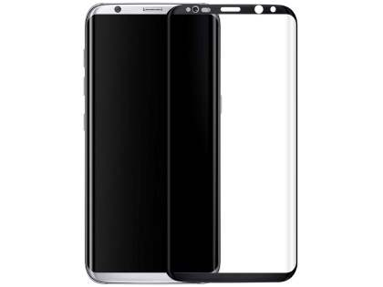 Curved Glass Screen Protector with Edge Only Adhesive for S8+ - Black/Clear
