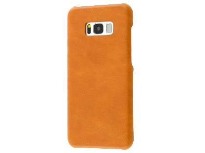 Top Grain Leather Back Cover for Samsung Galaxy S8 - Ochre Hard Case