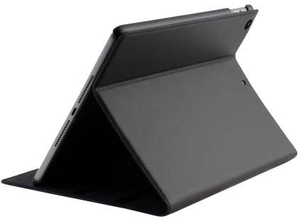 Premium Genuine Leather Slim Portfolio Case with Stand for iPad 9.7 (2018/2017) - Classic Black