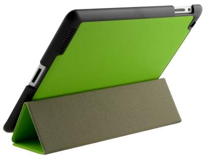 Premium Slim Synthetic Leather Flip Case with Stand for iPad 2/3/4 - Green Leather Flip Case