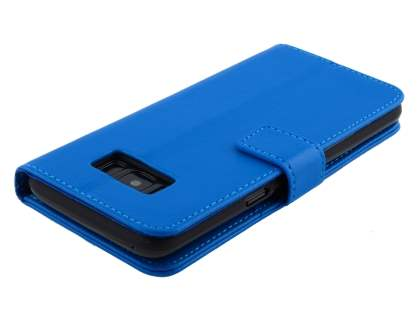 Synthetic Leather Wallet Case with Stand for Samsung Galaxy S8+ - Blue
