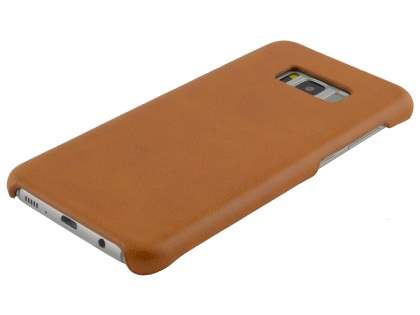 Top Grain Leather Back Cover for Samsung Galaxy S8+ - Ochre