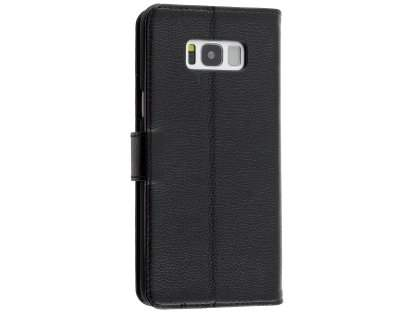 Premium Leather Wallet Case for Samsung Galaxy S8+ - Black