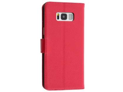 Premium Leather Wallet Case for Samsung Galaxy S8+ - Pink Leather Wallet Case
