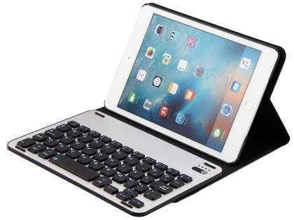 Smart Bluetooth Keyboard Case for iPad mini 4 - Black/Silver Keyboard