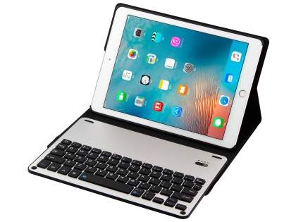 Smart Bluetooth Keyboard Case for iPad 9.7 (2017)/Pro 9.7/Air 2/Air - Black/Silver Keyboard