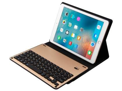 Smart Bluetooth Keyboard Case for iPad 9.7 (2017)/Pro 9.7/Air 2/Air - Gold Keyboard
