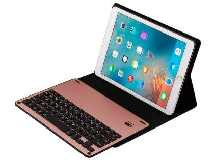 Smart Bluetooth Keyboard Case for iPad 9.7 (2017)/Pro 9.7/Air 2/Air - Pink Keyboard