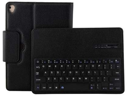 Synthetic Leather Bluetooth Keyboard Case for iPad 9.7 (2017) / Pro 9.7 / Air 2 / Air - Black