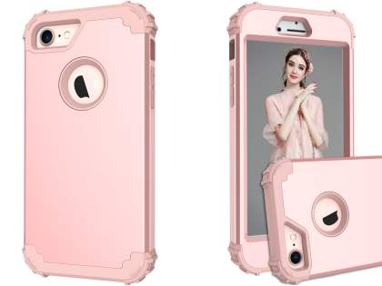 Defender Case for iPhone 8/7 - Metallic Pink Impact Case