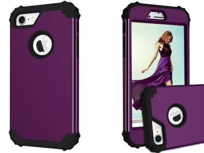 Defender Case for iPhone 8/7 - Plum/Black Impact Case