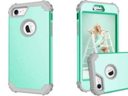 Defender Case for iPhone 8/7 - Mint/Grey Impact Case