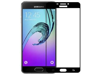 Curved Tempered Glass Full Screen Protector for Samsung Galaxy A7 (2017) - Black/Clear Screen Protector