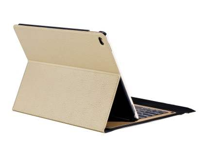 Smart Bluetooth Keyboard Case for iPad Air - Gold Keyboard