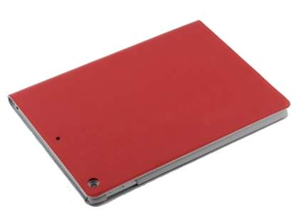 Premium Slim Genuine Leather Portfolio Case with Stand for iPad 9.7 (2017) 5th Gen - Red