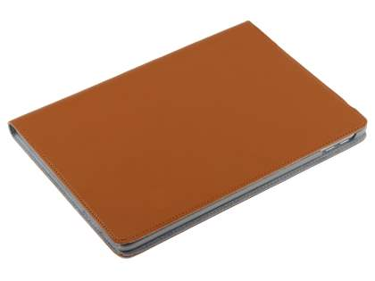 Premium Slim Genuine Leather Portfolio Case with Stand for iPad 9.7 (2017) 5th Gen - Light Brown