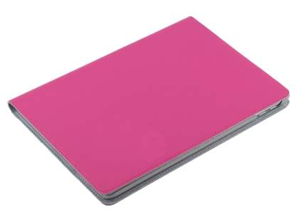 Premium Slim Genuine Leather Portfolio Case with Stand for iPad 9.7 (2017) 5th Gen - Pink